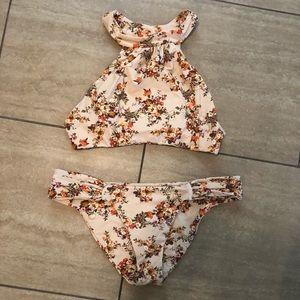 Boys + Arrows Floral high neck bikini